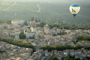 Aerial view of Uzès