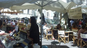 Sister Ambrosiac at the Marché d'Uzés